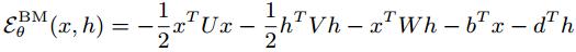 Boltzmann energy function